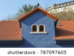 roof with dormer windows on a... | Shutterstock . vector #787097605