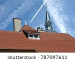 roof with dormer windows on a... | Shutterstock . vector #787097611