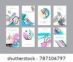 set of creative universal... | Shutterstock .eps vector #787106797
