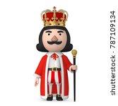 emperor wearing crown stand on... | Shutterstock . vector #787109134