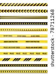 yellow and black police tape | Shutterstock . vector #78711268