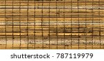 rugged  old bamboo shade detail ... | Shutterstock .eps vector #787119979