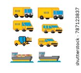 delivery transportation icon... | Shutterstock .eps vector #787123837