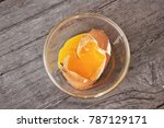 broken eggs with shell | Shutterstock . vector #787129171