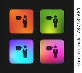 speech four color gradient app... | Shutterstock .eps vector #787132681