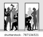 editable vector illustration... | Shutterstock .eps vector #787136521