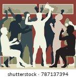 editable vector cutout... | Shutterstock .eps vector #787137394