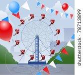 Ferris Wheel With Decorative...