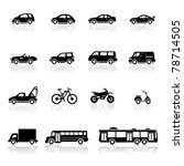 Stock vector icons set vehicles 78714505