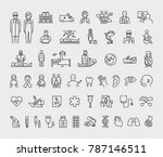 medical vector icons set  | Shutterstock .eps vector #787146511