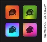 chat four color gradient app...   Shutterstock .eps vector #787156789