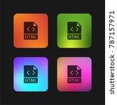 html four color gradient app... | Shutterstock .eps vector #787157971