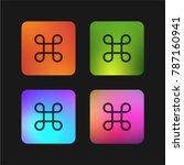 command four color gradient app ... | Shutterstock .eps vector #787160941