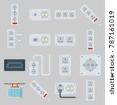 icon set about connectors... | Shutterstock .eps vector #787161019