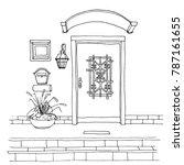 door on the front wall of the... | Shutterstock .eps vector #787161655