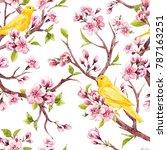 watercolor pattern tree... | Shutterstock . vector #787163251