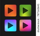 play button four color gradient ... | Shutterstock .eps vector #787163641