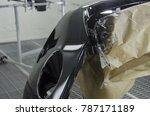 repair and painting car bumper... | Shutterstock . vector #787171189