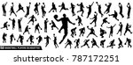 vector set of basketball... | Shutterstock .eps vector #787172251