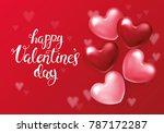 valentines day background... | Shutterstock .eps vector #787172287