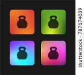 kettlebells four color gradient ... | Shutterstock .eps vector #787174039