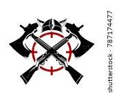 viking helmet and axe for... | Shutterstock .eps vector #787174477