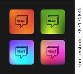 news four color gradient app...   Shutterstock .eps vector #787175845