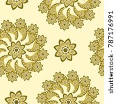 paisley  seamless pattern ... | Shutterstock .eps vector #787176991