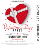 valentines day party poster.... | Shutterstock .eps vector #787181404