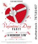 valentines day party flyer. red ... | Shutterstock .eps vector #787181407