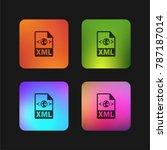 xml file format variant four... | Shutterstock .eps vector #787187014
