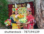 two filipino tourists at mines... | Shutterstock . vector #787194139