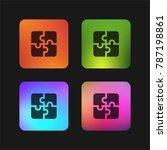 puzzle four color gradient app...