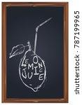 lemon juice   a drawing of a...   Shutterstock .eps vector #787199965