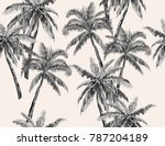 beautiful hand drawn botanical... | Shutterstock .eps vector #787204189