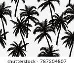 beautiful  botanical vector... | Shutterstock .eps vector #787204807