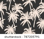 beautiful  botanical vector... | Shutterstock .eps vector #787205791