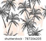beautiful hand drawn botanical... | Shutterstock .eps vector #787206205