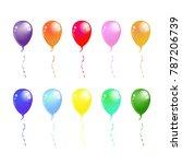 balloon set. vector...   Shutterstock .eps vector #787206739