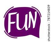 fun  speech bubble  banner...   Shutterstock .eps vector #787214839
