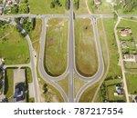 crossroad birds eye view   road ...   Shutterstock . vector #787217554