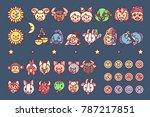 vector flat horosopes graphic... | Shutterstock .eps vector #787217851