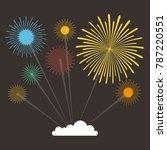 fireworks exploding in the... | Shutterstock .eps vector #787220551