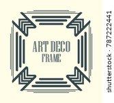 vintage retro border and frame... | Shutterstock .eps vector #787222441