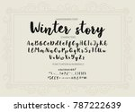winter story. handwritten brush ... | Shutterstock .eps vector #787222639