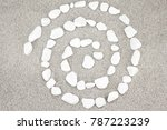 White Pebbles Arranged In A...