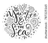 you  me   the sea. vector...