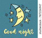 cute vector good night card... | Shutterstock .eps vector #787226947