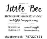 handrawn vector alphabet.... | Shutterstock .eps vector #787227631