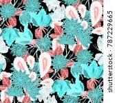 watercolor seamless pattern... | Shutterstock . vector #787229665